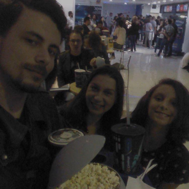 Dressler, Gigi e eu na estreia de Rogue One