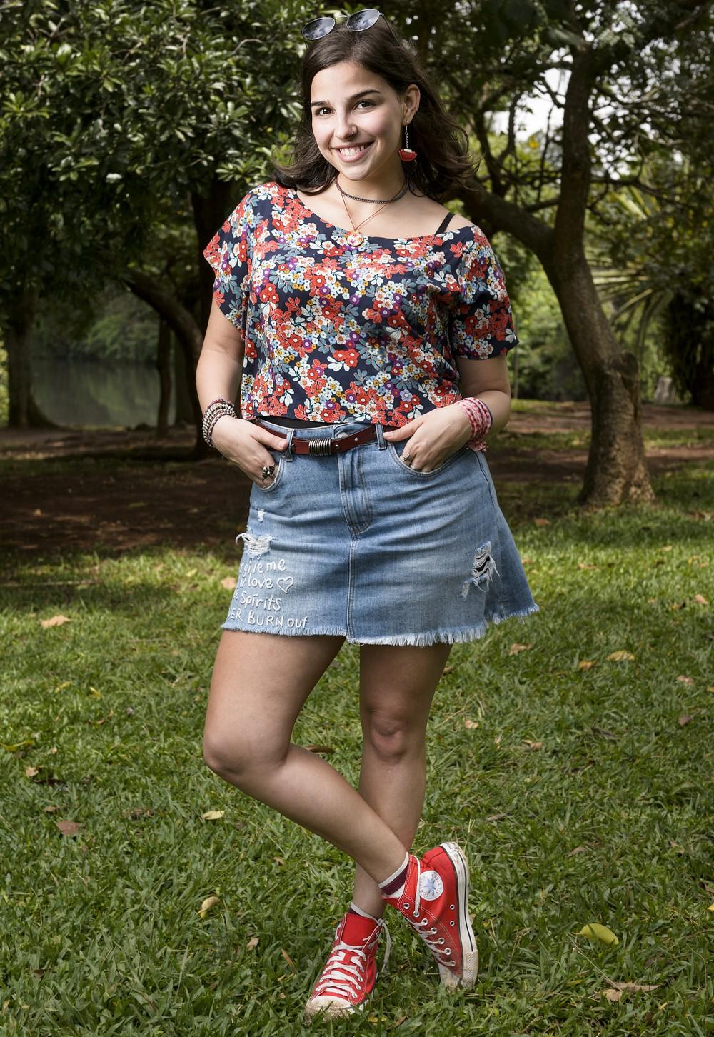 Gabriela Medvedovski é Keyla em 'Malhação - Viva a Diferença' (Foto: TV Globo/Ramón Vasconcelos)