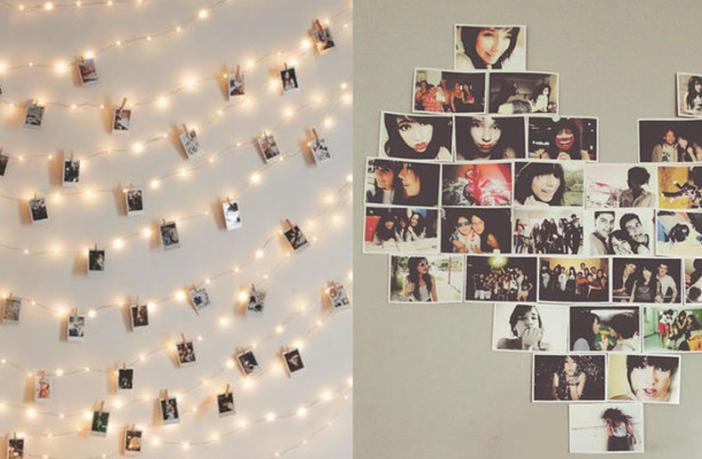 Quarto Teen Feminino: como organizar um mural de fotos   Adolescência