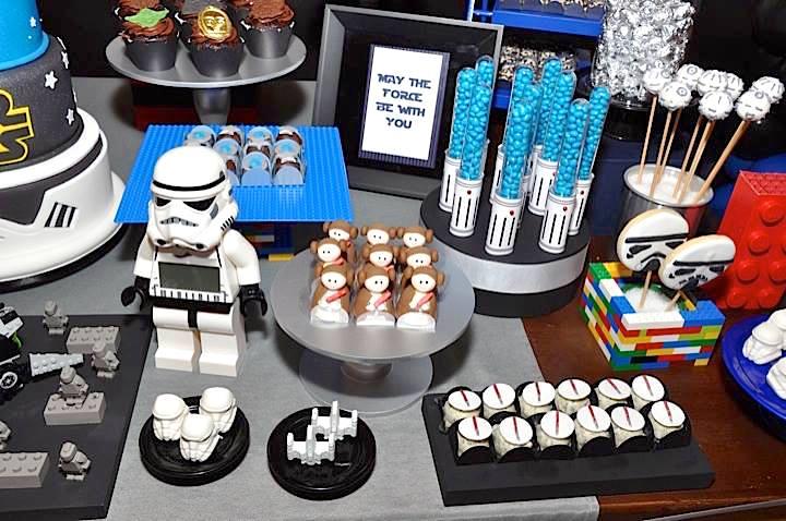 festa de 15 anos star wars doces e lembrancinhas