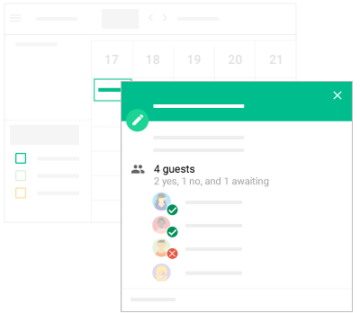 organizar a rotina agenda google convidados