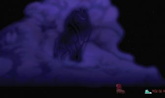 Rei Leão Mufasa e as estrelas