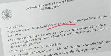 Tirando passaporte e visto americano de adolescentes